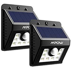 Lamparas solares 8 led impermeable con sensor de - Focos solares amazon ...