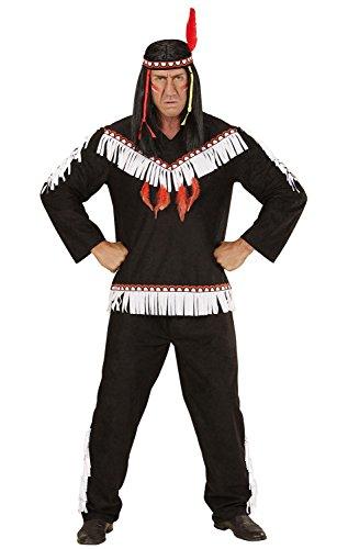 INDIAN MAN - BLACK (XL) (coat pants headband)