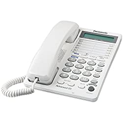 Panasonic KX-TS208W 2-Line Integrated Phone System, White