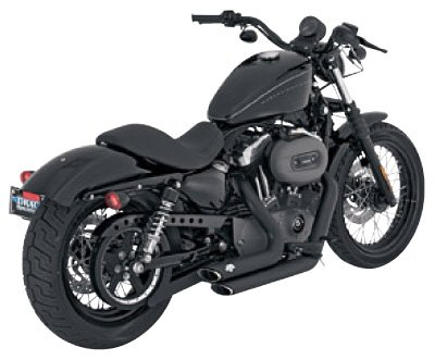 - Vance and Hines Shortshots Staggered Full System Exhaust for Harley Davidson 2004-13 Sportster Models