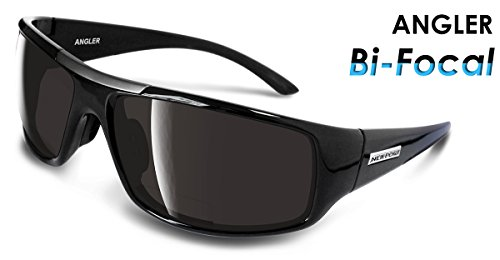 Newport Polarized Angler Black BiFocal with Smoke Lens - Polarized Bifocal Sunglasses