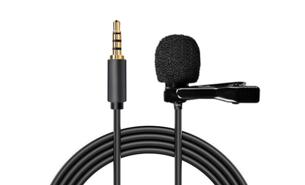 Omnidirectional Lavalier Lapel Microphone Condenser Mic for Apple iPhone, Android & Windows Smartphones,YouTube,Interview,Studio,Video Recording,Noise Cancelling Mic - Nextronics