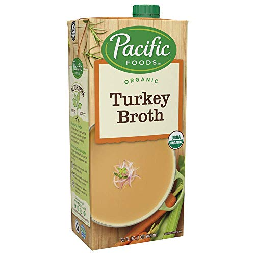 Pacific Foods Organic Turkey Broth, 32oz, 12-pack