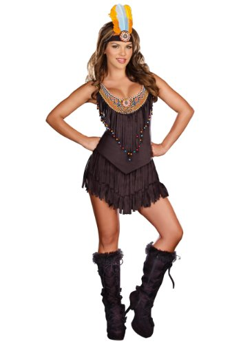 Dreamgirl Women's Reservation Royalty Dress, Black, Small (Sexy Indian Costumes)