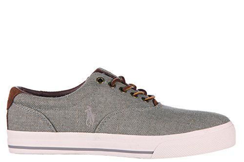 Polo Ralph Lauren Hombres Zapatos Cotton Trainers Sneakers Vaugh Grey
