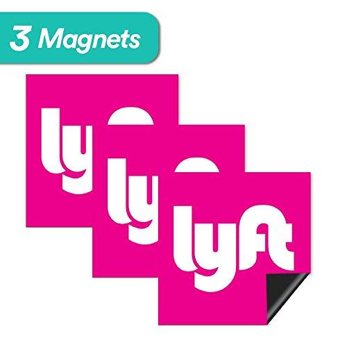 Lyft Sign Magnet - 3 Premium Magnets Bulk Pack - [5