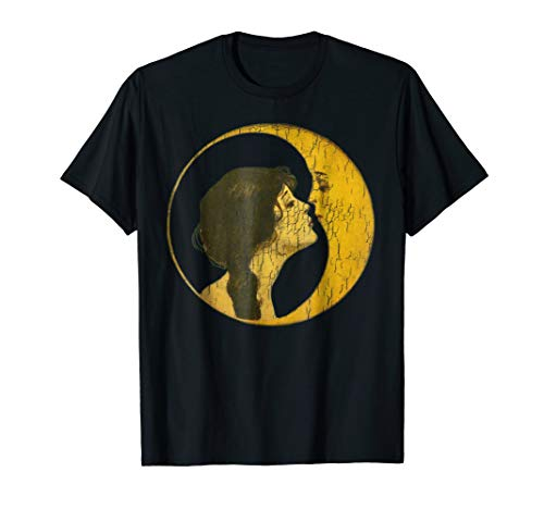 T-shirt Vintage Kiss (Kiss The Man on the Moon Distressed Vintage T Shirt)