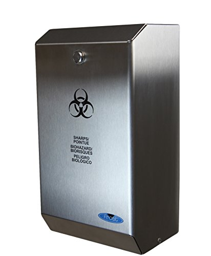 - Frost 878 Stainless Steel Biomedical Sharps Disposal, 4.23 quarts, 5.9