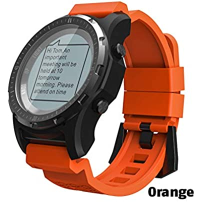 ZCPWJS smart wristband S966 GPS Smart Watch Men Heart Rate Monitor Air Pressure Fitness Tracker Wristwatch Compass Altitude Sport Smartwatch Orange Estimated Price £119.98 -