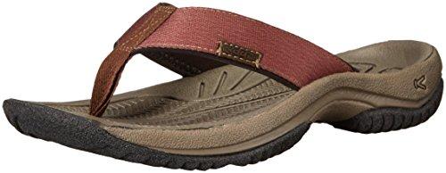 (KEEN Men's KONA FLIP Sandal, Dark Earth/Tortoise Shell, 11 M US)