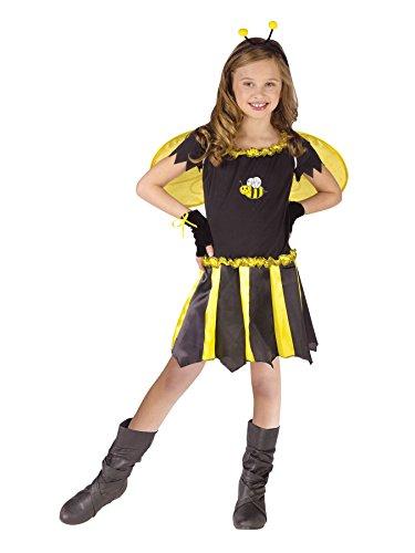 [Girls Sweetheart Bee Kids Child Fancy Dress Party Halloween Costume, S (4-6)] (Sweetheart Bee Toddler Costumes)