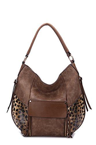 Hobo Handbags Shana Exclusive Crossbody Shoulder Bag MKF Collection Designer Handbags by Mia K. Farrow - Hobo Print Animal