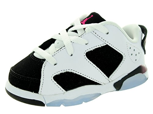 Nike Jordan Toddlers Jordan 6 Retro Low Gt White/Sport Fuchsia/Black Basketball Shoe 6 Infants US by Jordan