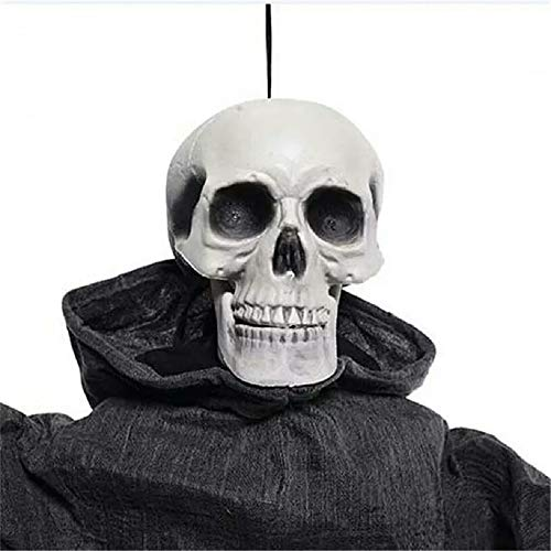 Halloween Decoration Electric Horror Props Toys skeleton Witch Halloween Standing Ghosts Home Haunted House Bar Doorway Decor]()