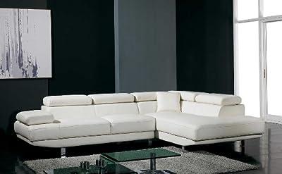 Divani Casa T60 - Modern Bonded Leather Sectional Sofa