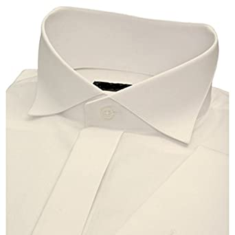 Mens new ivory cream wedding prom shirt wing collar for for Mens ivory dress shirt wedding