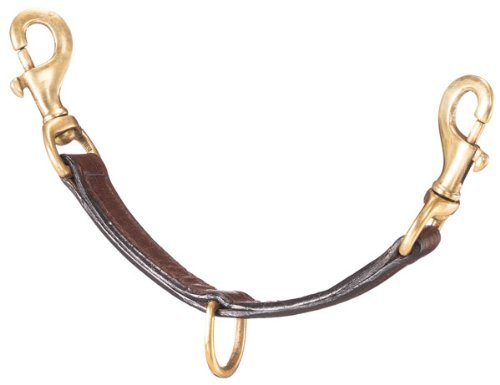 - Tough-1 Leather Lunging Strap with Brass Hardware Dark Oil