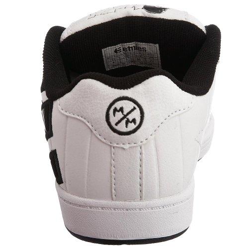 Etnies - Zapatillas de skateboarding de cuero nobuck para niños blanco - blanco, negro