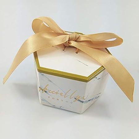 TGQETC - Caja de papel de regalo para baby shower, para fiestas, invitados, decoración de boda, dorado, 50 PCS: Amazon.es: Hogar