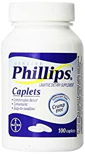 Phillips' Laxative Caplets  100-Count