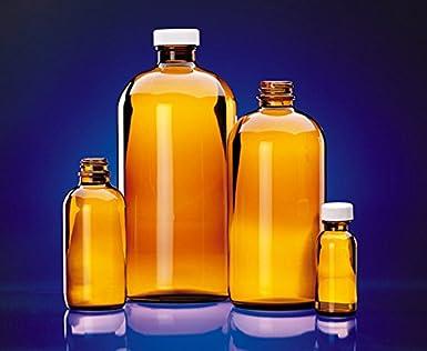 Wheaton Glass 048692 Boston, botella de 250 ml, ámbar (paquete de 12)
