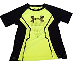 Under Armour Boys Elevated Armour Tee Hi Vis Yellow Size 4
