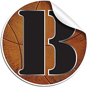 Wall Letter Alphabet Initial Sticker Vinyl Stickers Decal Name Sports Basketball