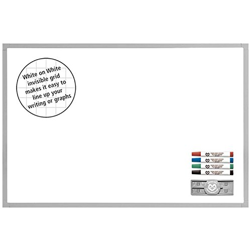 Magna Visual Deluxe Ghost Grid Board Kit, 24'' X 36'', White, 36 x 24 by Magna Visual