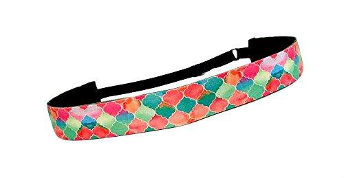 RAVEbandz Exclusive Fashion Headbands (MORROCAN) ñ Adjustable, Non-Slip Sports & Fitness Hair Bands for Women and Girls