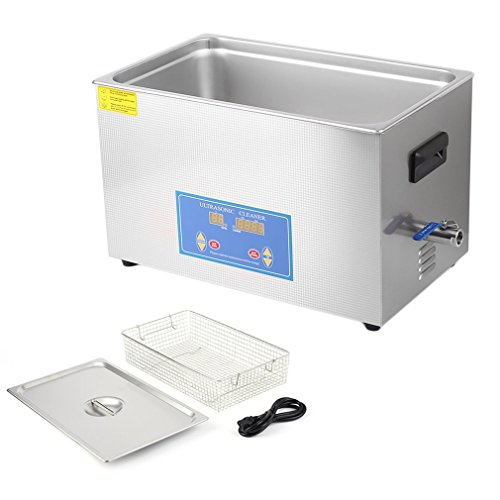Ultrasonic Cleaner Commercial and Jewelry Ultrasonic Cleaner with Heater and Digital Control (30L)