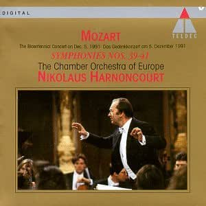 Wolfgang amadeus mozart nikolaus harnoncourt the chamber for Chamber orchestra of europe