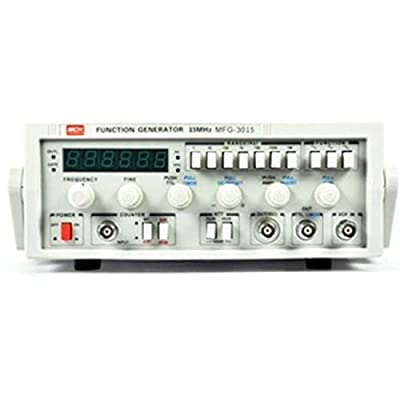 Function Signal Generator Low Frequency 15MHz Signal Source 30M Frequency Meter MFG-3015 High Precision (Size : 220V)
