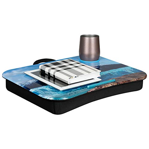 LapGear Cup Holder Lap Desk - Patagonia - Fits up to 15.6 Inch laptops - Style No 46302