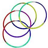 Fun Central I39 50pcs, 22 Inches Premium Glow Necklaces, Glow In The Dark Necklaces, Glow Necklaces Bulk - Assorted Tricolor Mix