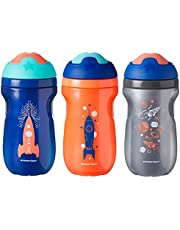 Tommee Tippee Non-Spill Insulated Sippee Toddler Tumbler Cup, 12+ Months, 9 Ounce, 3 Count, Boy