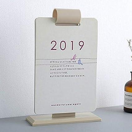 SMALL-CHIPINC - 2019 Calendar Simple Calendar Desktop Wall ...