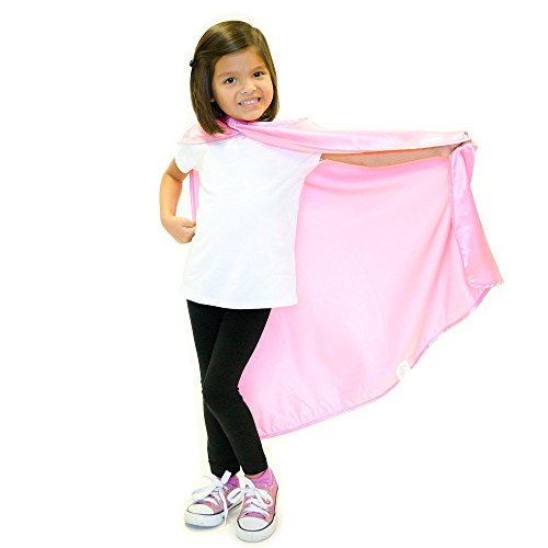 Everfan Pink Polyester Satin Superhero Cape - -