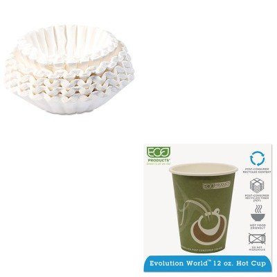 KITBUN1M5002ECOEPBRHC12EW - Value Kit - ECO-PRODUCTS,INC. Evolution World 24% PCF Hot Drink Cups (ECOEPBRHC12EW) and Bunn Coffee Commercial Coffee Filters (BUN1M5002) by Eco-Products, Inc