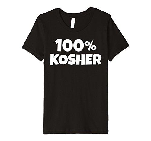 Kids 100% KOSHER Funny Joke Hebrew Jewish Funny Halloween T-shirt 4 Black