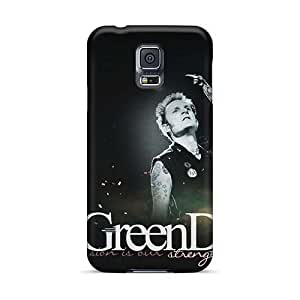 Great Hard Phone Cover For Samsung Galaxy S5 (ISC5474dBqI) Allow Personal Design Nice Green Day Image