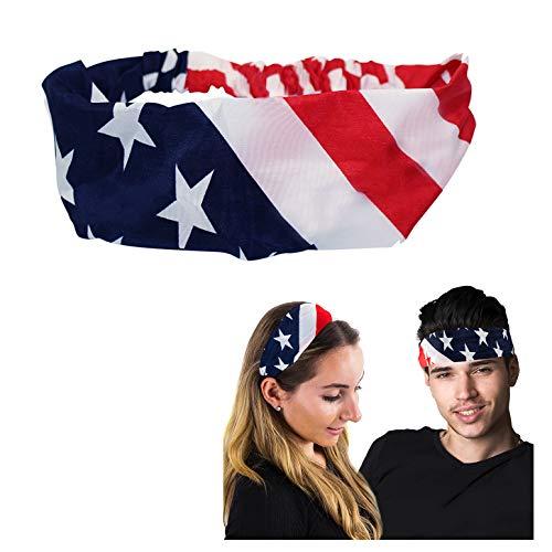 Patriotic Headband - Unisex - American Flag Headband - Patriotic Hair Accessories - Flag Headband by CoverYourHair ()