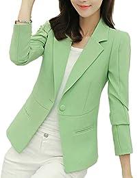 8552d9cef71 pujingge-CA Women s 1-Button Formal Solid Wear to Work Casual Suit Blazer  Jackets