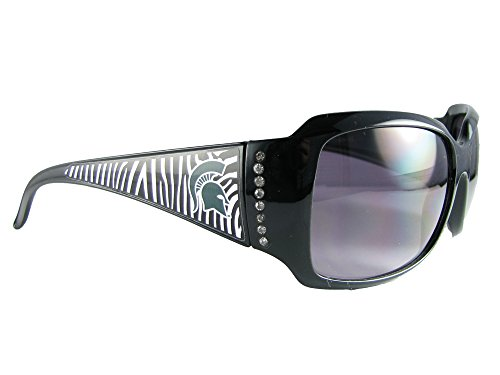 Michigan State Spartans Black White Green Zebra Print Womens Sunglasses MSU - Spartan Sunglasses