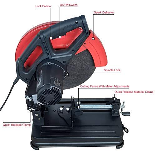 iBELL CM35-24, 14 Inch, 2400W, 3900RPM, 50Hz Cut Off Machine with Blade - 6 Months Warranty 3