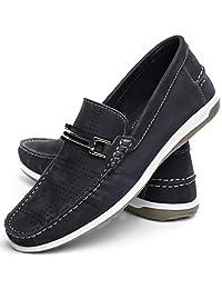 Sapato mocassim Masculino Confort Mr Light Nobuck Furadinho Italia