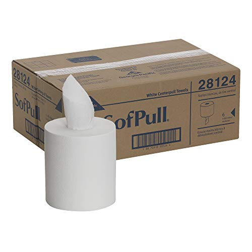 SofPull Centerpull Regular Capacity Paper Towel by GP PRO (Georgia-Pacific), White, 28124, 320 Sheets Per Roll, 6 Rolls Per Case from Georgia-Pacific