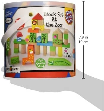 At The Zoo Small World Toys 5450286 50 PC Block Set