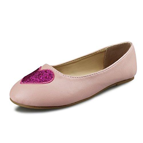 Pink Ballerina Footwear (Hawkwell Girls Mary Jane Ballerina Flat Shoes(Toddler/Little Kid/Big Kid),Pink PU,11 M US)