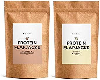 BODY GENIUS Dúo Protein Flapjacks. 2x500g. Preparado para ...