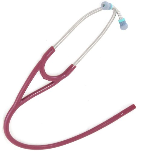 Replacement Tube (dual lumen binaurals)   fits ALL leading brand dual-head Cardiology  Stethoscopes - T71 BURGUNDY